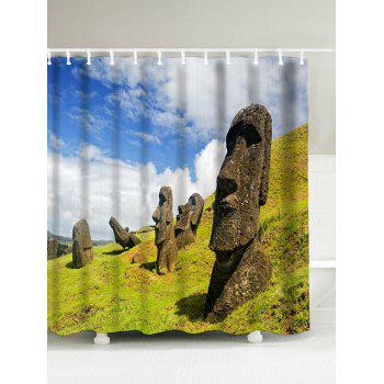Megalith Face Waterproof Shower Curtain