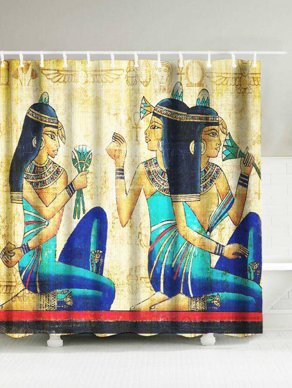 Ancient Egypt Women Waterproof Shower Curtain 2016 frees shiiping good natural tourmaline jade stone mattress mat beauty mattress health care pad heating pad heat 1 0x1 9m