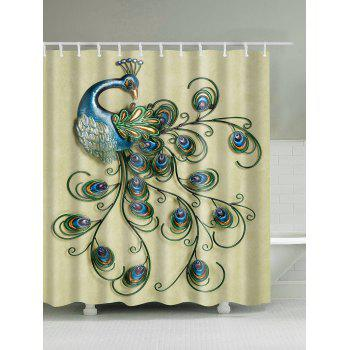 Waterproof Decor Peacock Shower Curtain