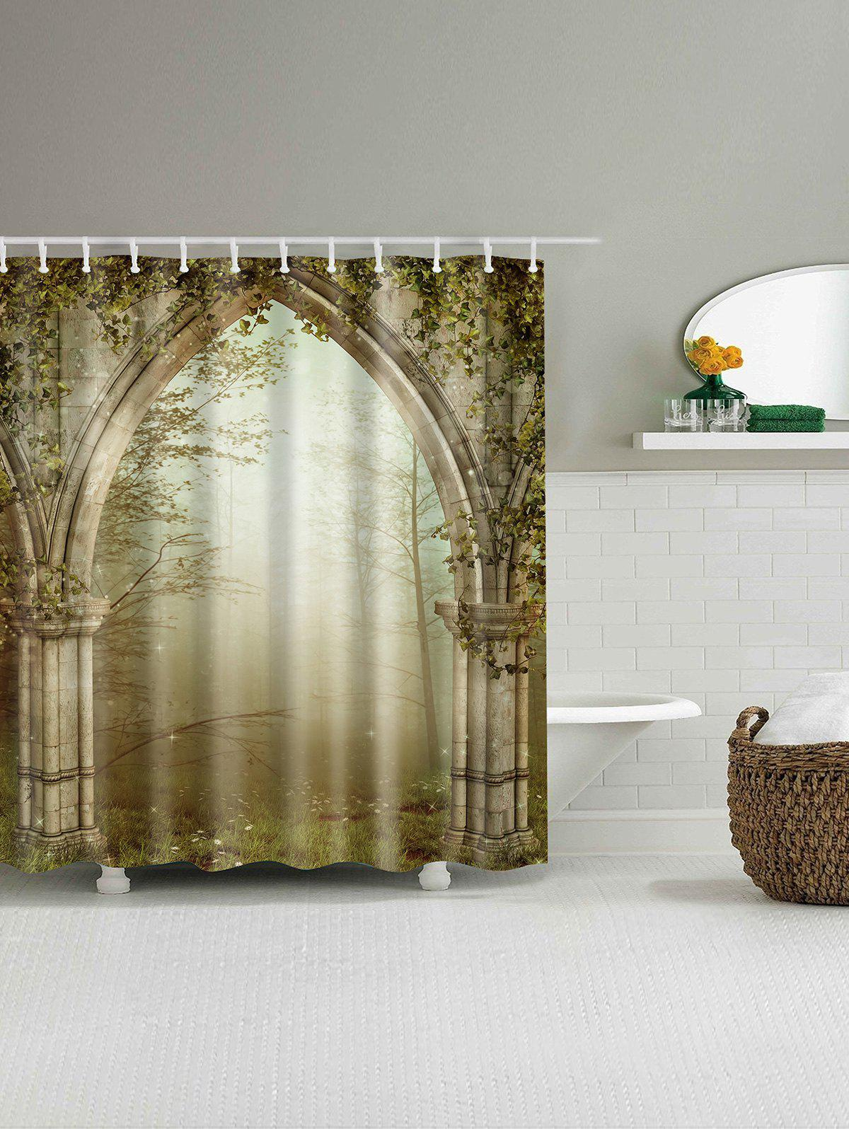 Dreamy Creepers Archway Waterproof Shower Curtain - COLORMIX 180*200CM