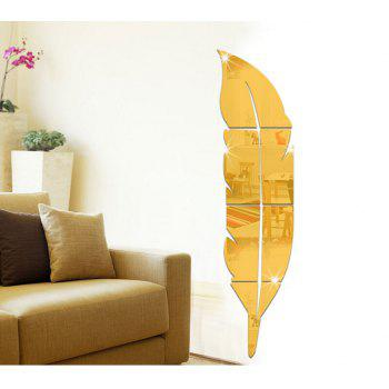 Removable Feather Mirrored Wall Sticker