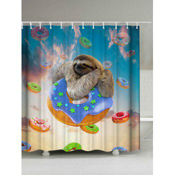 Sloth and Donuts Shower Curtain
