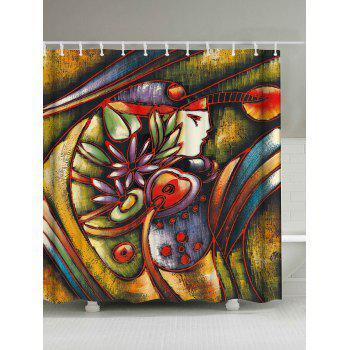 Art Oil Painting Shower Curtain With Hooks