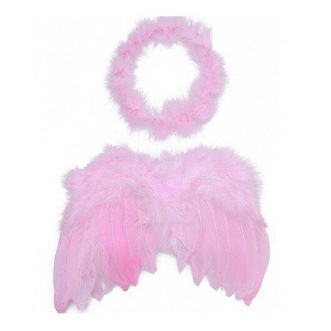Cute Baby Kids Feather Wings Headwear Accessory - COLORMIX 30*20