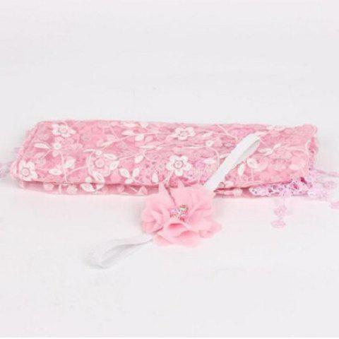 Newborn Maternity Silk Props Baby Photo Photography Quilt with Headband - PINK