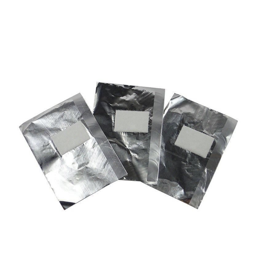 100PCS Lady Nail Care Tinfoil Wraps Gel Polish Remover Tool - SILVER