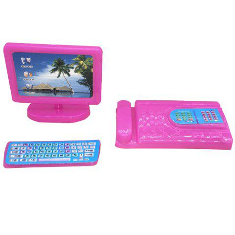 Miniature Modern Computer Furniture for Baby - PINK