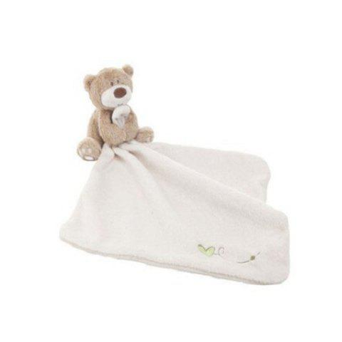 Baby Bibs Soft Saliva Towel Toddler Lunch Clothes Infant Handkerchief with Cartoon Bear - WHITE