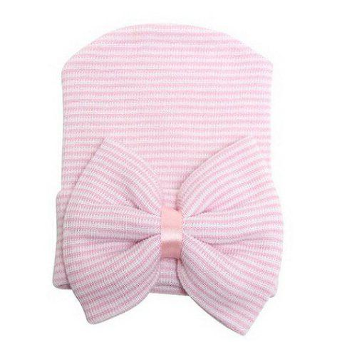 Bow Style Infant Baby Soft Cute Kid Hat Cap for Newborn - PINK