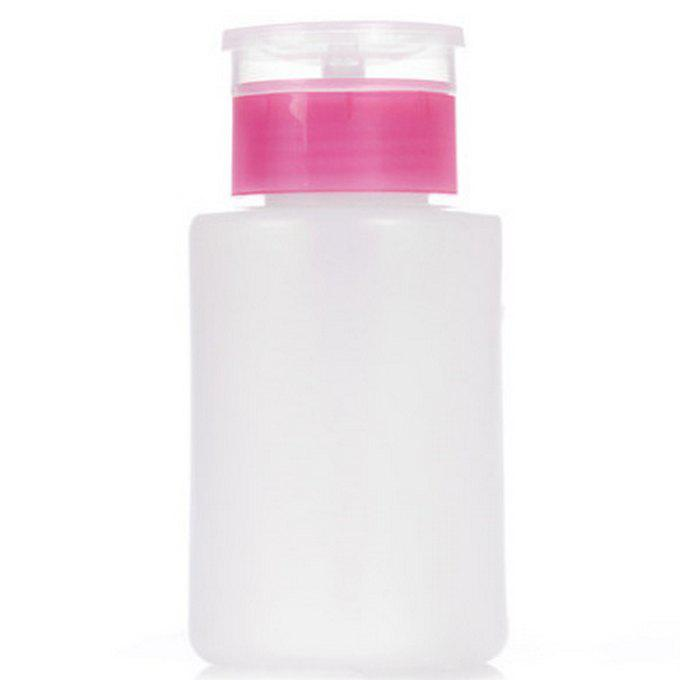 120ml Nail Polish Remover Pump Dispensers Empty Plastic Bottle - ROSE RED