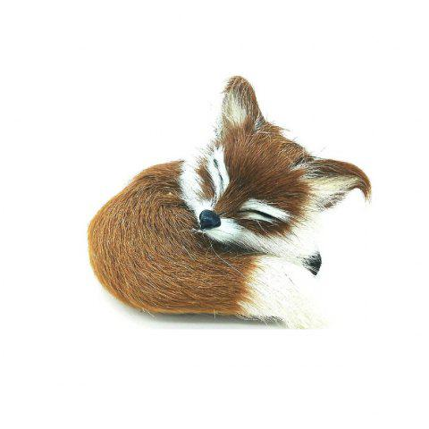 Super Cute Simulation Fox Plush Toys Kids Appease Doll Gifts - YELLOW