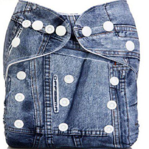 Baby Jeans Style Diaper Waterproof TPU Pants Cover - BLUE ONE SIZE(FIT SIZE XS TO M)