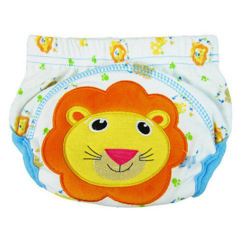 Baby Cartoon Style Diaper Cotton Training Pants Cover - BLUE L
