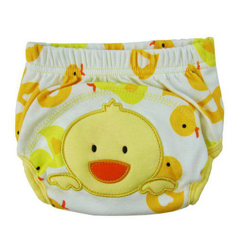 Baby Cartoon Style Diaper Cotton Training Pants Cover - YELLOW XL