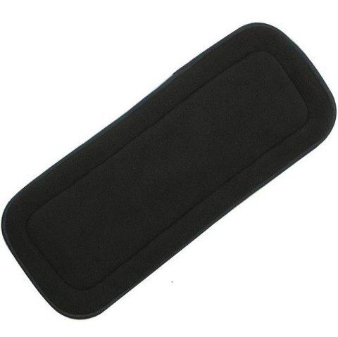 Bamboo Charcoal Washable Diaper Nappies Insert Reusable Cloth - BLACK 35*13.5CM