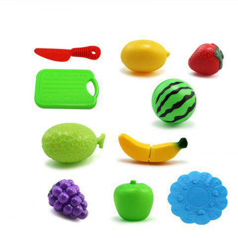 10 Pieces Cook Cosplay Safety Plastic Qieqie Play House Kitchen Fruit - COLORMIX