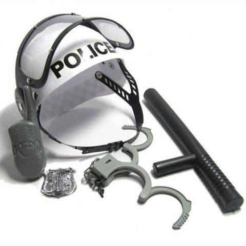 Police Cap And Handcuffs Baton Suit Toy for Children - COLORMIX