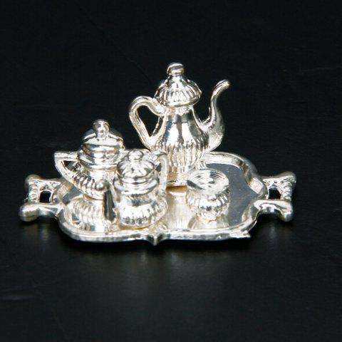 1:12 Doll House Kitchen Teapot Classic Children Toy - SILVER