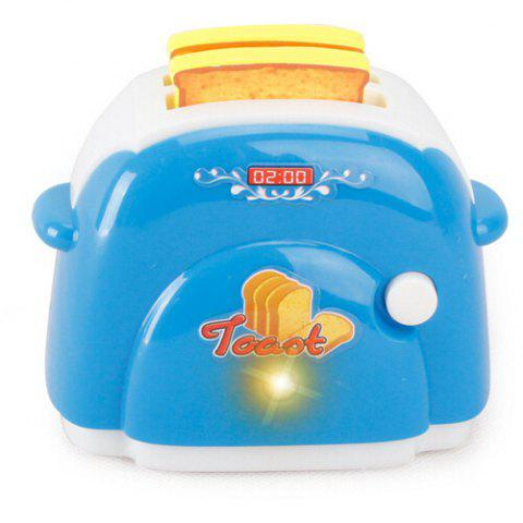 Mini Kitchen Plastic Sound Simulation Bread Maker for Kids - BLUE