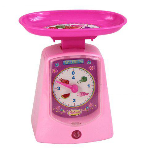 Mini Plastic Sound Simulation Electronic Scale for Kids - PINK