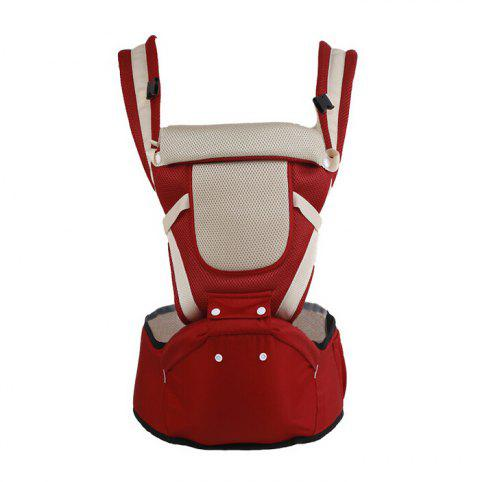 Portable Ergonomic Ventilate Baby Carrier Sling Hipseat Kangaroo Rucksack Mochila for Newborn - WINE RED