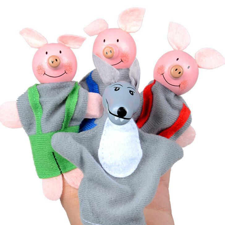 Cute Velvet Finger Puppets Set Animal Style - COLORMIX STYLE 2