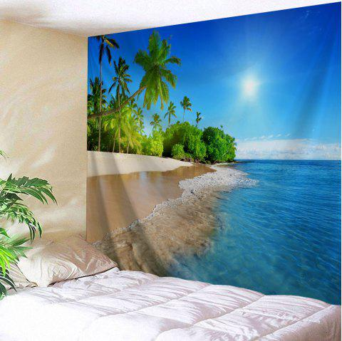 Beach Scenery Bedroom Decor Wall Tapestry - LAKE BLUE W59 INCH * L79 INCH