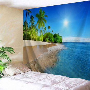 Beach Scenery Bedroom Decor Wall Tapestry - LAKE BLUE W71 INCH * L91 INCH