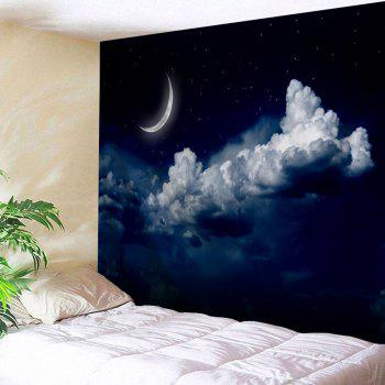 Moonnight Print Home Decor Wall Art Tapestry - NIGHT BLUE NIGHT BLUE