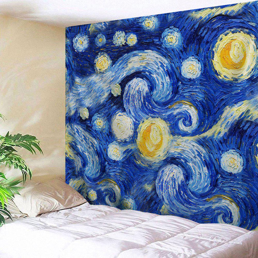 Galaxy Oil Painting Wall Hanging Tapestry - BLUE W59 INCH * L59 INCH