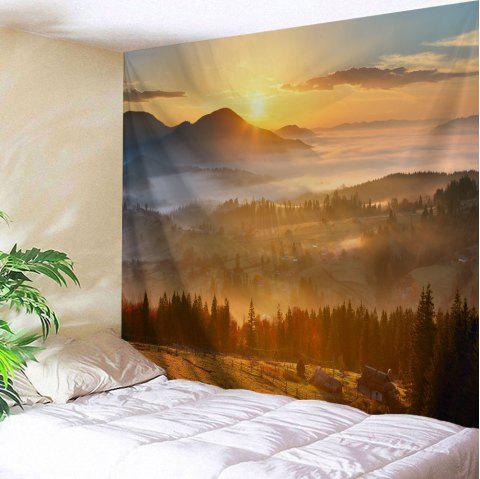 Natural Sunset View Throw Decorative Wall Tapestry - GOLD BROWN W71 INCH * L91 INCH