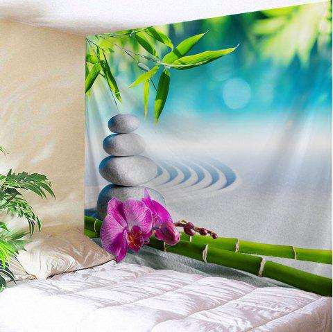 Bamboo Stone Wall Blanket Throw Hanging Tapestry - COLORMIX W71 INCH * L91 INCH