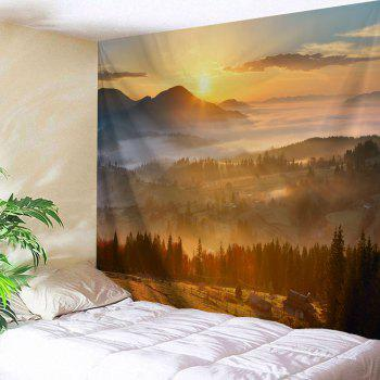 Natural Sunset View Throw Decorative Wall Tapestry