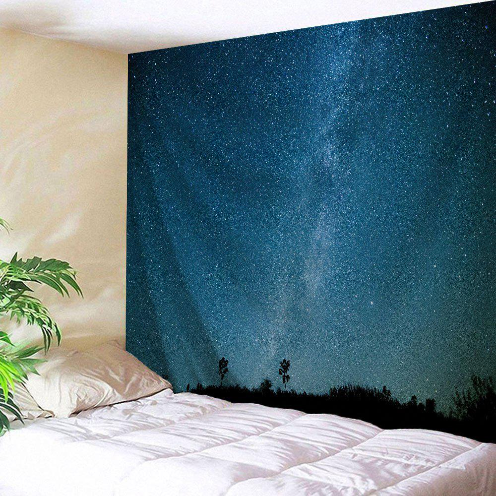 Night Sky Wall Hanging Tapestry For Dorm Decor - NIGHT BLUE W59 INCH * L79 INCH