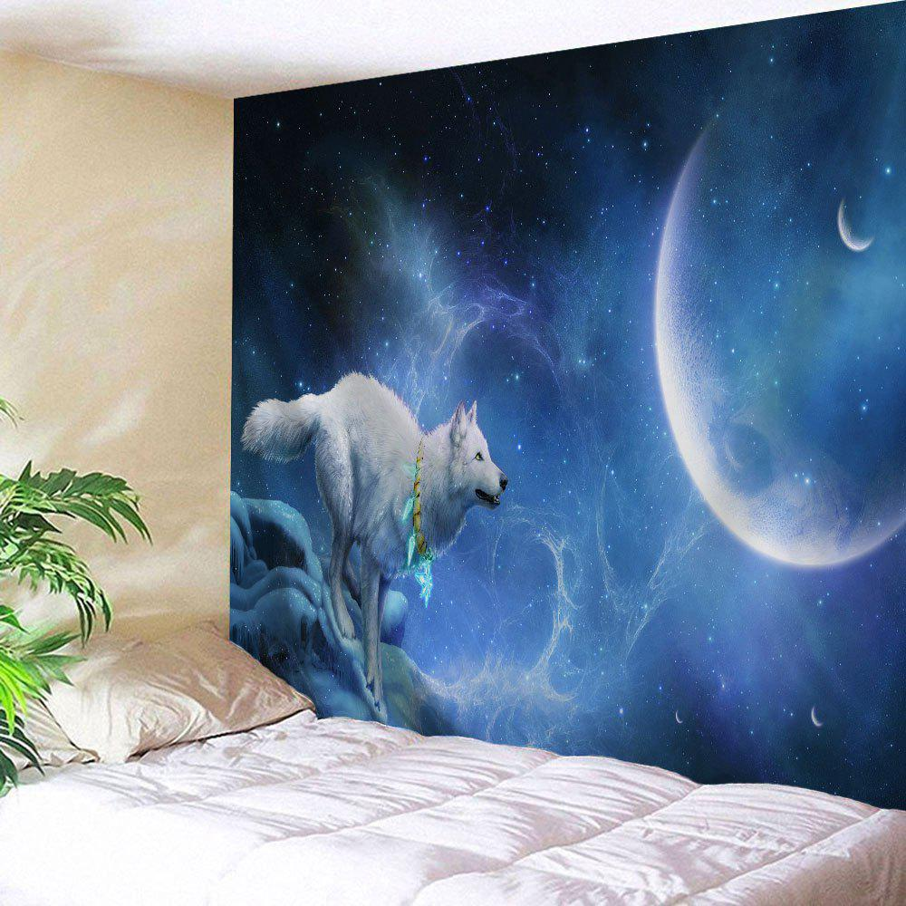 Wall Hanging Wolf Moonlight Print Tapestry браслет цепь moonlight vsbc267 925