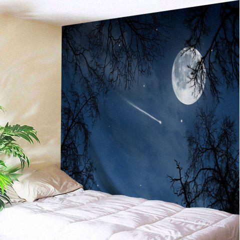Moonnight Meteor Fabric Decorative Wall Tapestry - NIGHT BLUE W59 INCH * L59 INCH