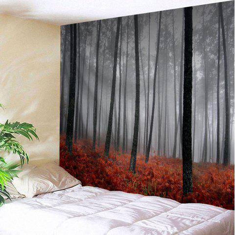 Foggy Grove Wall Tapestry For Dorm Decor - GRAY W71 INCH * L91 INCH