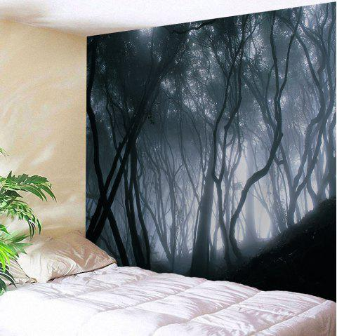 Mist Forest Wall Tapestry For Home Decoration - BLACK GREY W51 INCH * L59 INCH