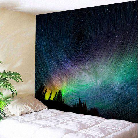 Psychedelic Night Sky Polyester Wall Tapestry - COLORMIX W59 INCH * L59 INCH