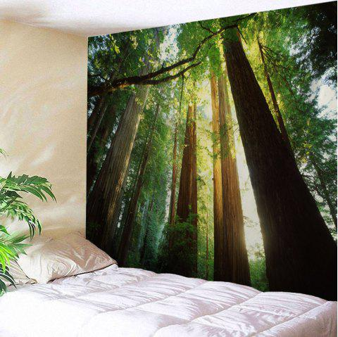 Sunshine Forest Wall Hanging Home Decor Tapestry - GREEN W59 INCH * L59 INCH