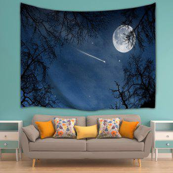 Moonnight Meteor Fabric Decorative Wall Tapestry - NIGHT BLUE W71 INCH * L91 INCH