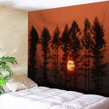 Sunset Spinney Wall Hanging Polyester Tapestry