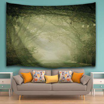 Wall Art Hanging Mist Forest Fairyland Tapestry - LIGHT GREEN W59 INCH * L79 INCH