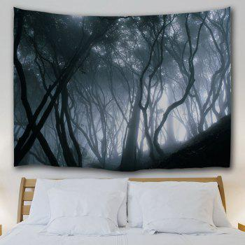 Mist Forest Wall Tapestry For Home Decoration - BLACK GREY W59 INCH * L79 INCH