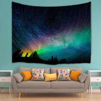 Psychedelic Night Sky Polyester Wall Tapestry - COLORMIX W59 INCH * L79 INCH