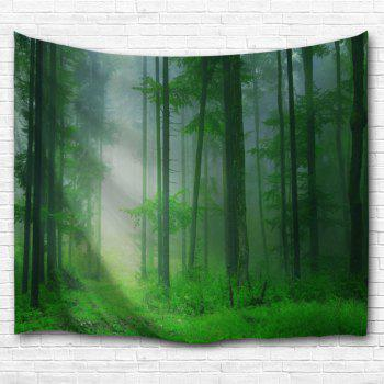 Foggy Forest Bedroom Tapestry Wall Hangings - GREEN W59 INCH * L79 INCH