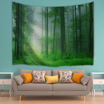 Foggy Forest Bedroom Tapestry Wall Hangings - GREEN W59 INCH * L59 INCH