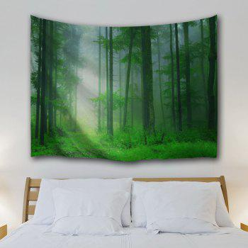 Foggy Forest Bedroom Tapestry Wall Hangings - GREEN W51 INCH * L59 INCH
