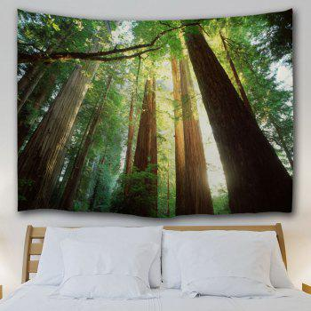 Sunshine Forest Wall Hanging Home Decor Tapestry - GREEN W71 INCH * L91 INCH