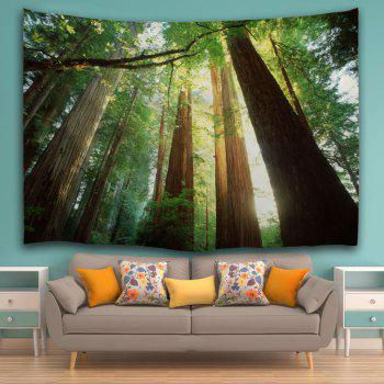Sunshine Forest Wall Hanging Home Decor Tapestry - GREEN W59 INCH * L79 INCH